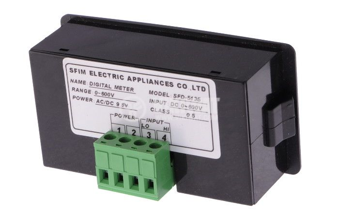 Digital voltmeter, 0-600V DC, SFD-5135 - 2
