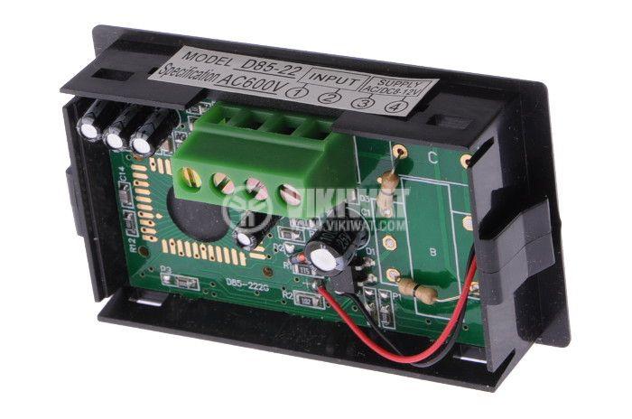 Волтметър цифров, 0-600V AC, SFD-85 - 4