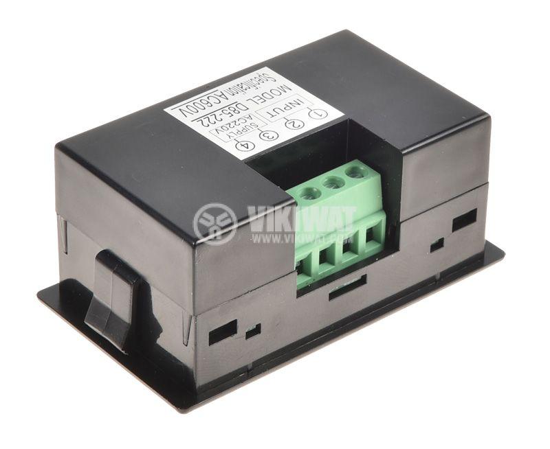 Волтметър цифров, 0-600V AC, D85-222 - 2