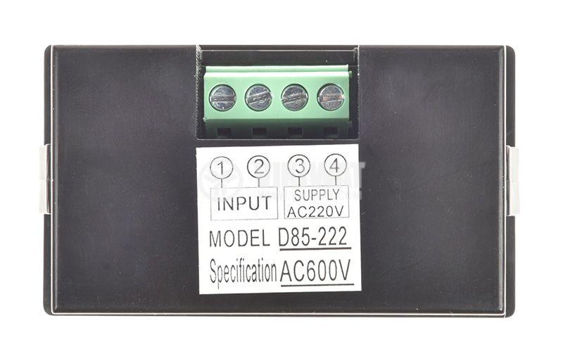 Волтметър цифров, 0-600V AC, D85-222 - 3