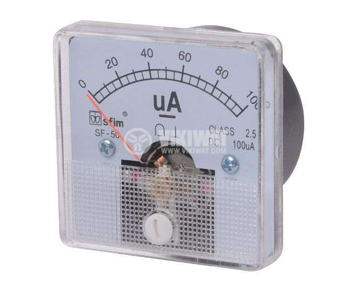 Ammeter, 0-100 uA, DC, 50x50 mm, SF-50 - 1