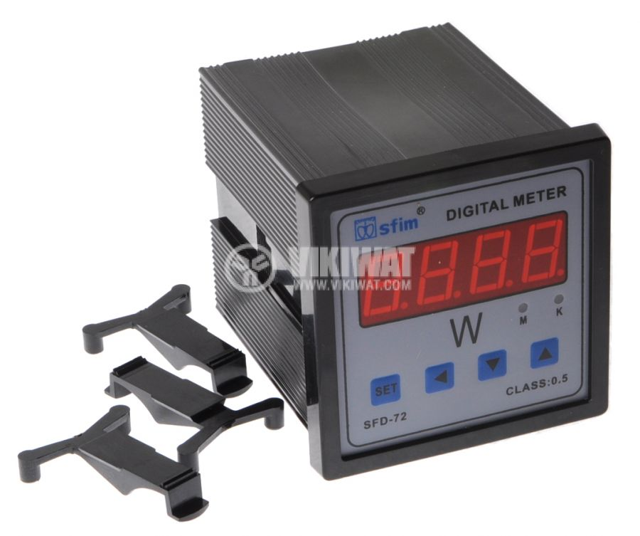 Digital power meter programmable, 0-9999MW AC, SFD-72X1-P - 1