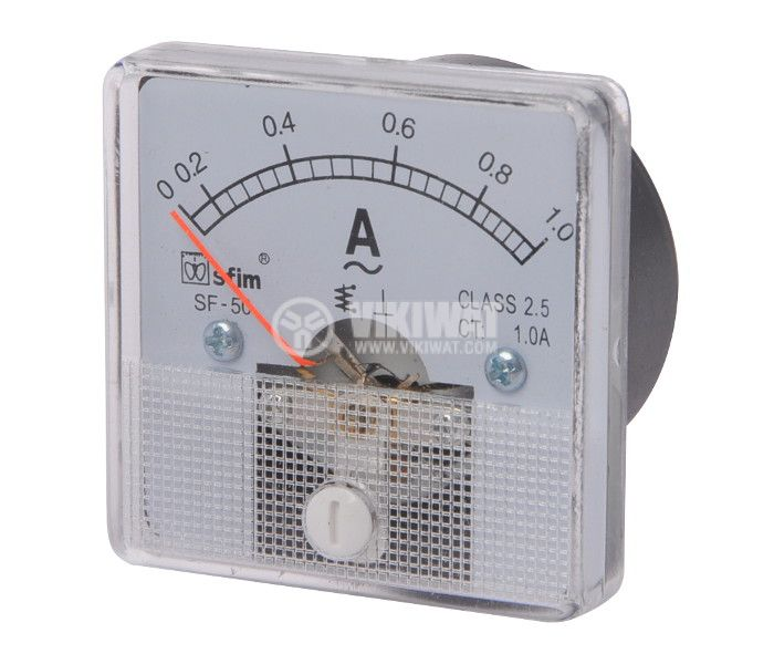 Ammeter, 0-1 A, AC, 50x50 mm, SF-50 - 1