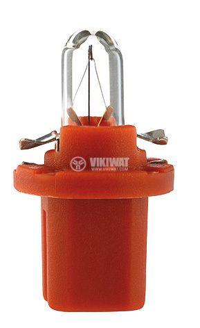 Автомобилна лампа с PVC цокъл, нажежаема жичка, BAX10d/B8.5d, 12V, 1.5W - 1