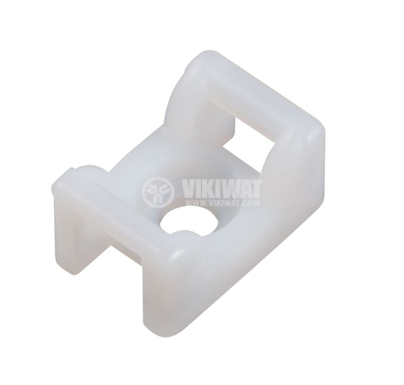 Holder for cable ties KR6G5-PA66-NA, 12x18mm, white - 1