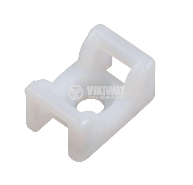 Държач за кабелни превръзки KR6G5-PA66-NA, 12x18mm, бял - 1