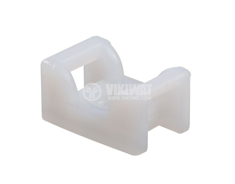 Holder for cable ties KR6G5-PA66-NA, 12x18mm, white - 2