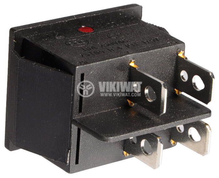 Клавишен превключвател, IRS 201, 16A/250VAC, DPST - 2