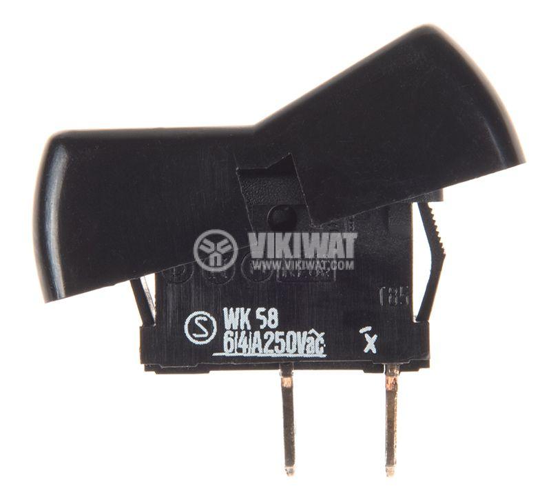 Rocker превключвател, 2 позиции, OFF-ON, 6A/250VAC, отвор 33x21mm - 2