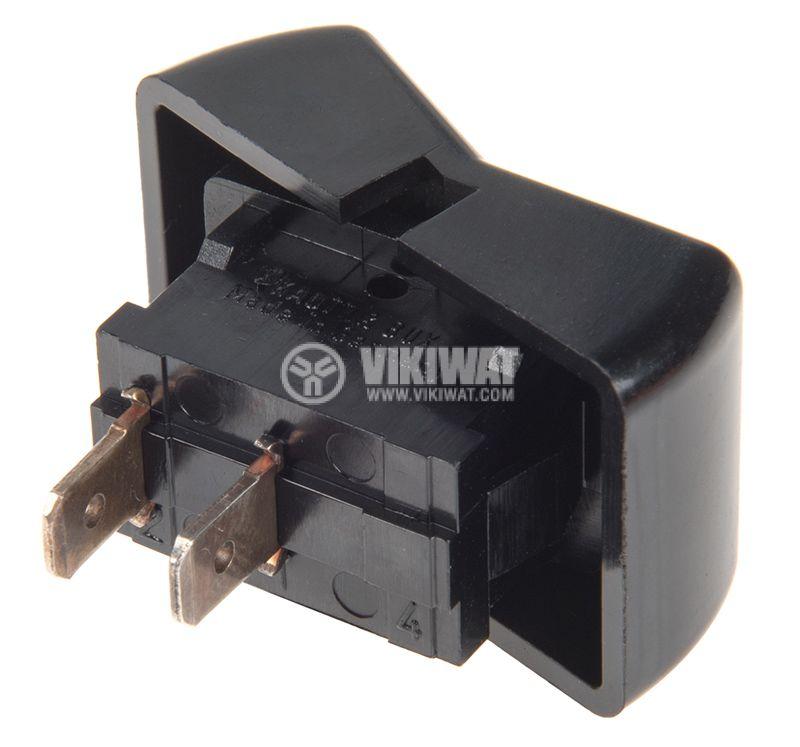 Rocker превключвател, 2 позиции, OFF-ON, 6A/250VAC, отвор 33x21mm - 3