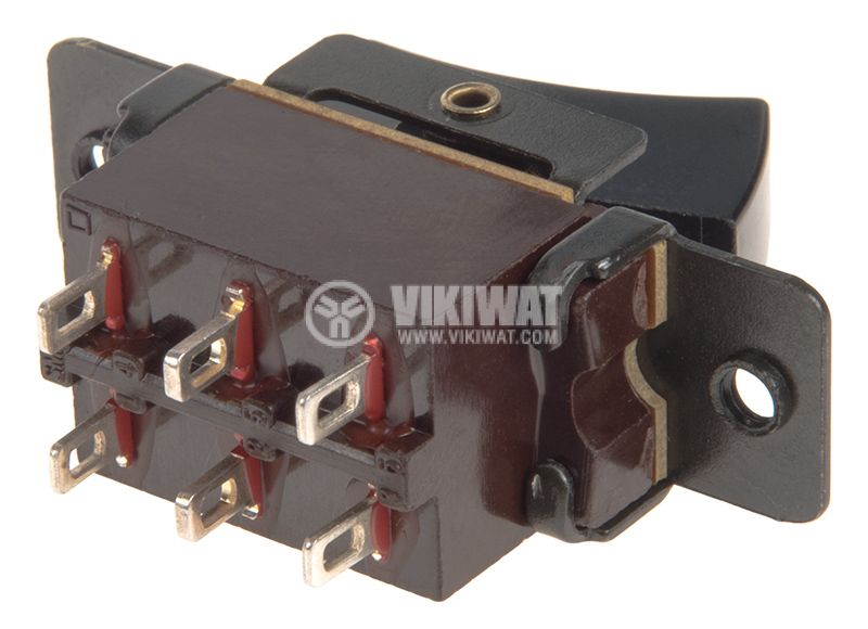 Rocker превключвател, 2 позиции, ON-ON, 4A/250VAC, отвор 25x6mm - 3