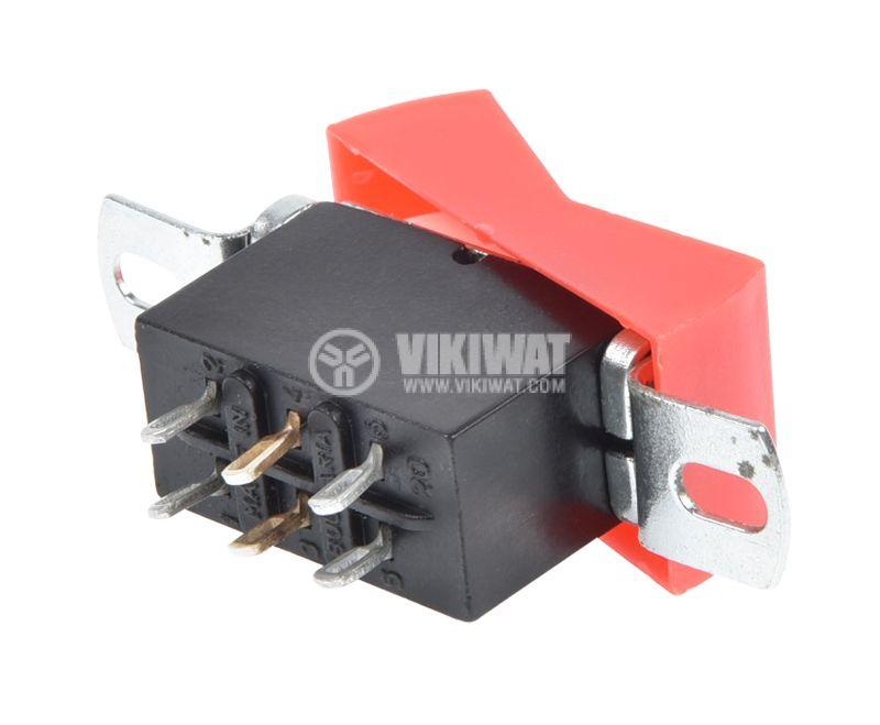 Rocker Switch, 2-position, ON-ON, 10A/250VAC, hole size 36x18mm - 5