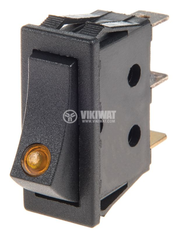 Rocker Switch, 2-position, OFF-ON, 15A/12VDC, hole size 31x11mm - 1