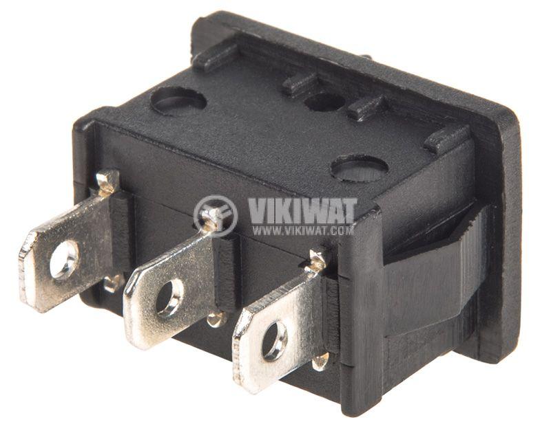 Rocker превключвател, 3 позиции, ON-OFF-ON, 6A/250VAC, отвор 19x13mm - 3