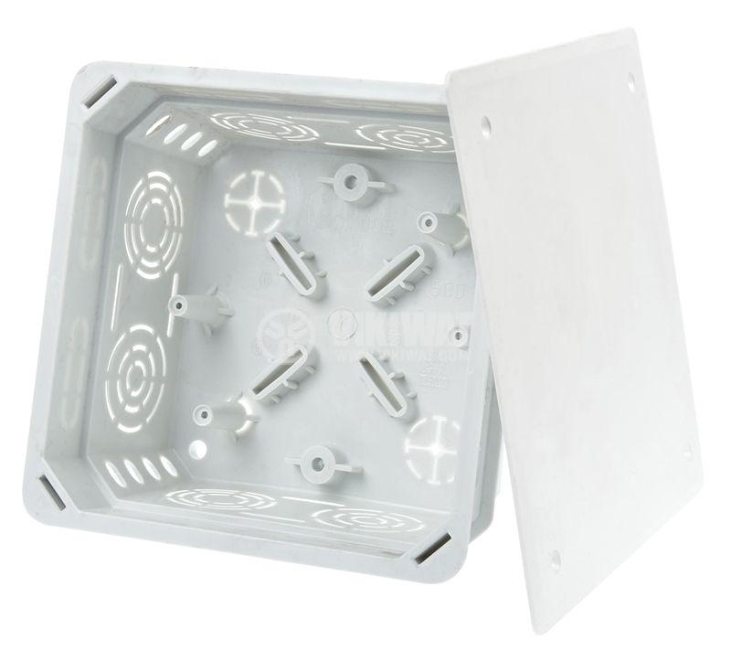 Разклонителна кутия KO100E, с капак, за вграждане в стени с мазилка - 1