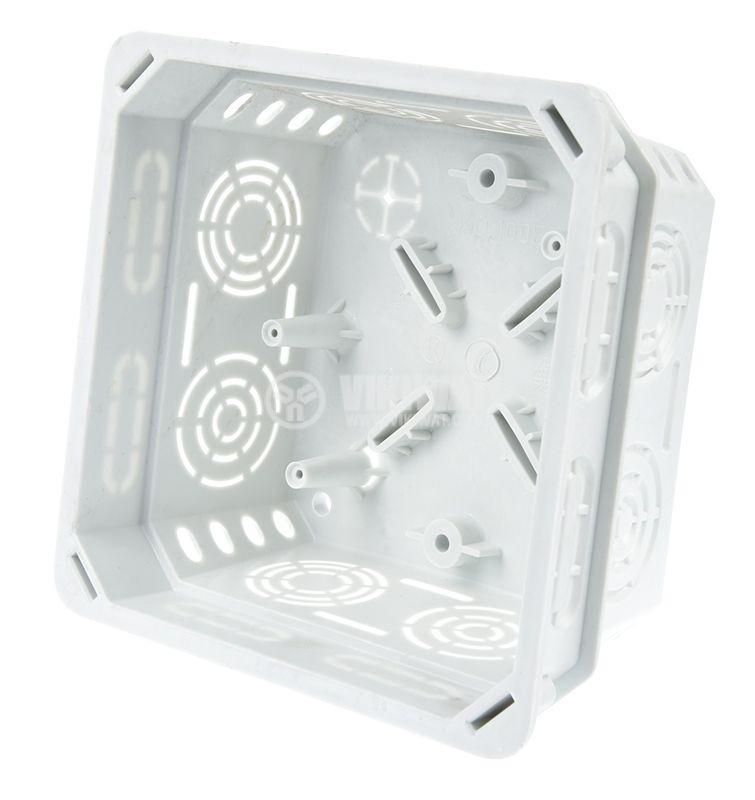 Разклонителна кутия KO100E, с капак, за вграждане в стени с мазилка - 2