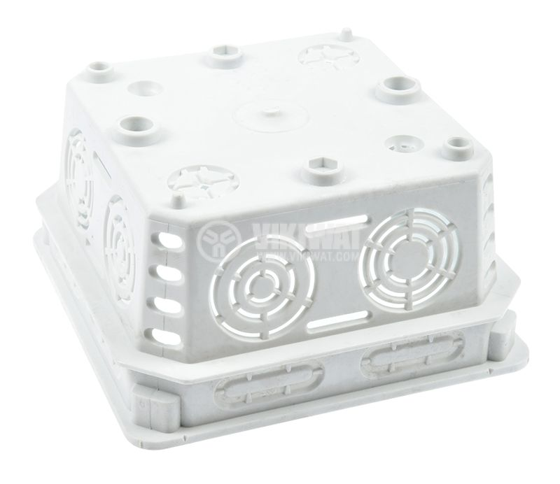 Разклонителна кутия KO100E, с капак, за вграждане в стени с мазилка - 3