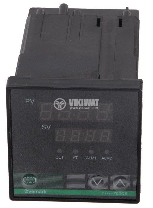 Temperature controller VTR-700CS, 220VAC, 0-600°C, TC type K, relay output