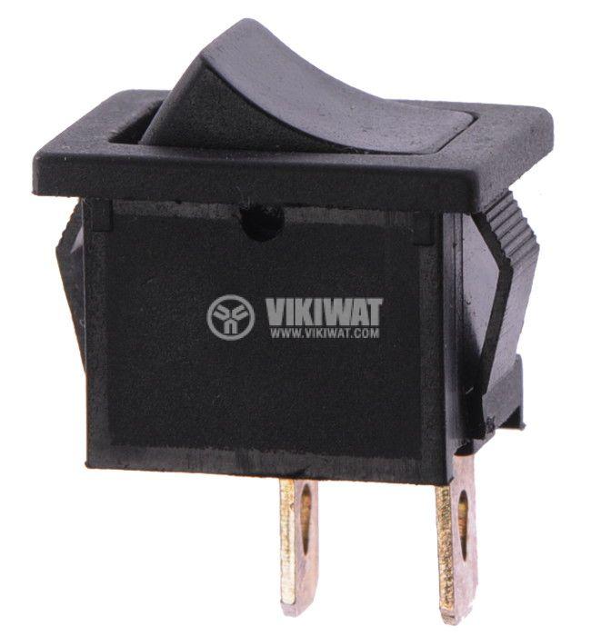 Клавишен превключвател, MRS-111A-C2, 6A/250VAC, 10A/125VAC, SPST, черен