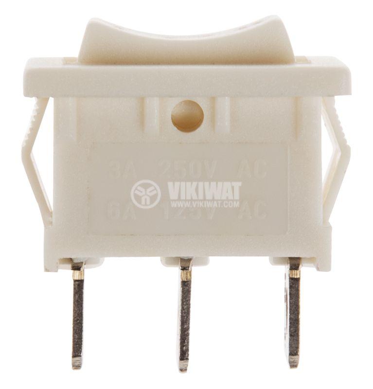 Клавишен превключвател rocker  MRS-103, 6 A/250 VAC, SP3T - 2