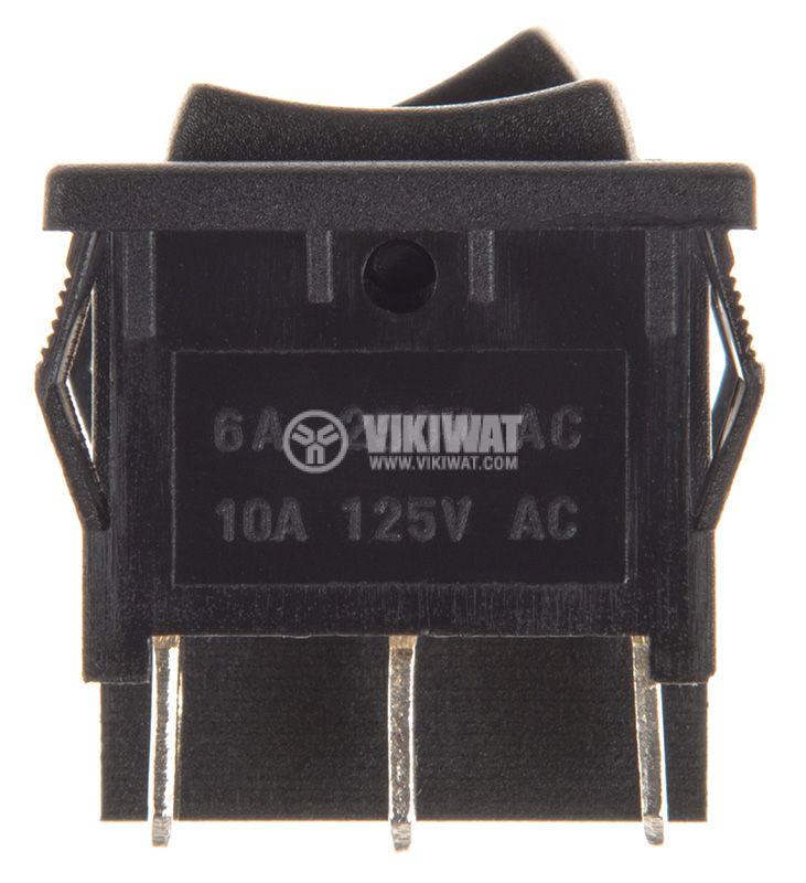 Rocker Switch, 3-position, ON-OFF-ON, 6A/250VAC, hole size 20x22mm - 2
