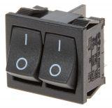 Rocker Switch, 3-position, ON-OFF-ON, 3A/250VAC, hole size 20x22mm