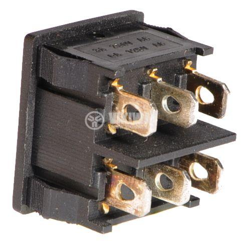 Клавишен превключвател, 3A/250VAC, 2xSPDT - 2