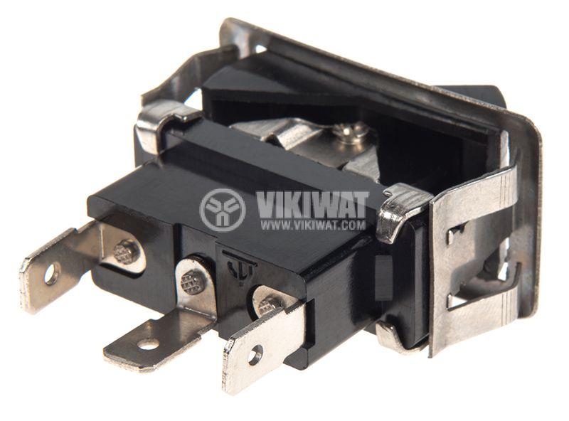 Rocker превключвател, 3 позиции, ON-OFF-ON, 35A/12VDC, отвор 37x18mm - 3