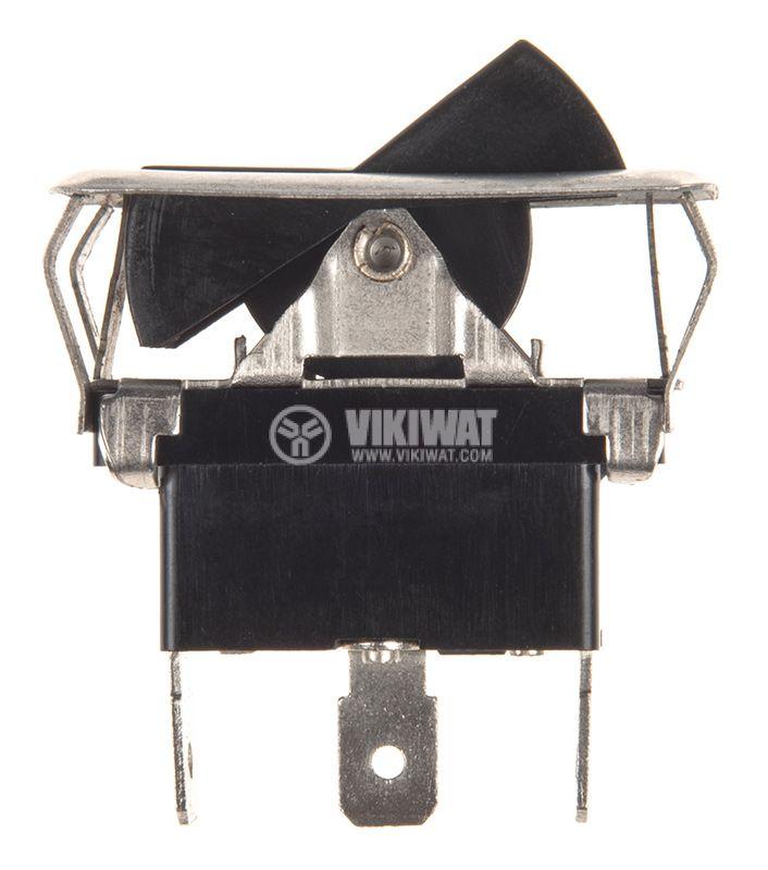 Клавишен превключвател rocker ASW-10-102, 20 A/30 VDC, 35 A/12 VDC, ON-ON ,SPST,черен - 2