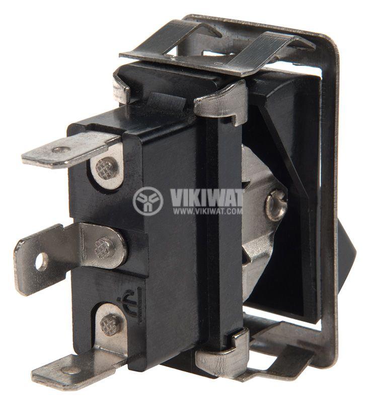 Rocker превключвател, 2 позиции, ON-ON, 35A/12VDC, отвор 37x18mm - 3