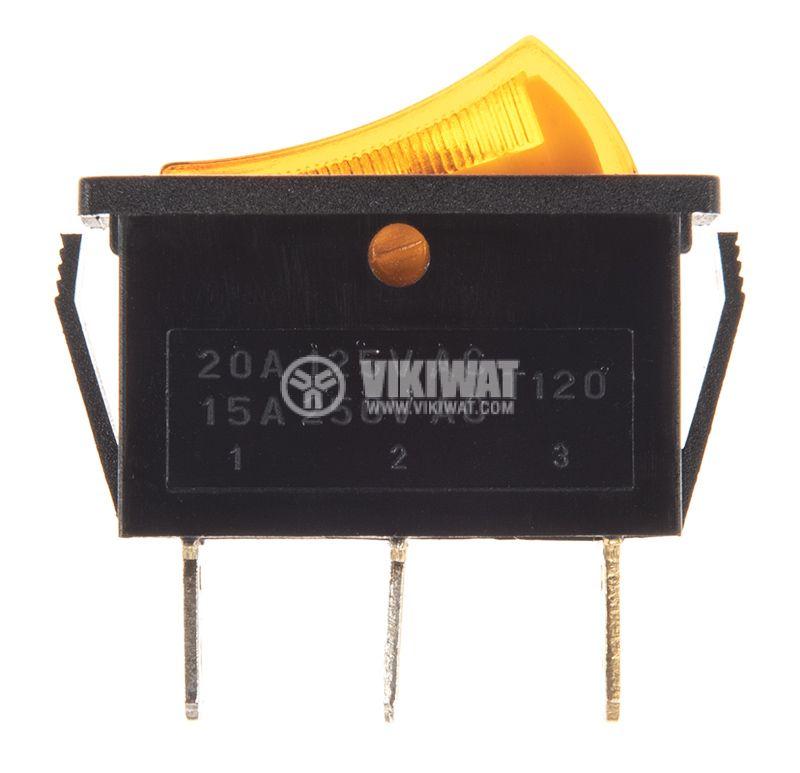 Клавишен превключвател, MK 811 C/N, 15A/250VAC, SPST - 2