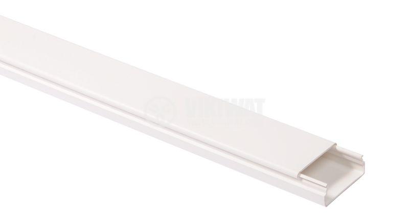 Кабелен канал 40x16.5x2000 mm, пластмаса LV40x15 (HD)