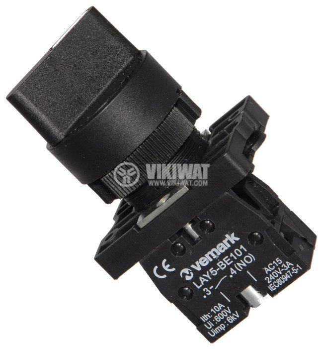 Ключ LAY5-ED21 400VAC/10A SPST - NО черен - 1