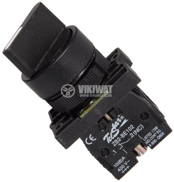 Ключ LAY5-ED25 400VAC/10A 2PDT - NО+NC черен - 1