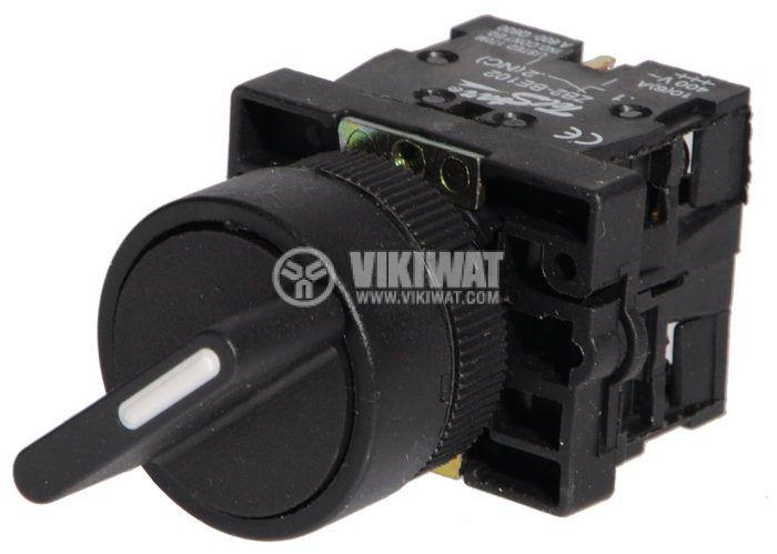 Ключ LAY5-ED25 400VAC/10A 2PDT - NО+NC черен - 2