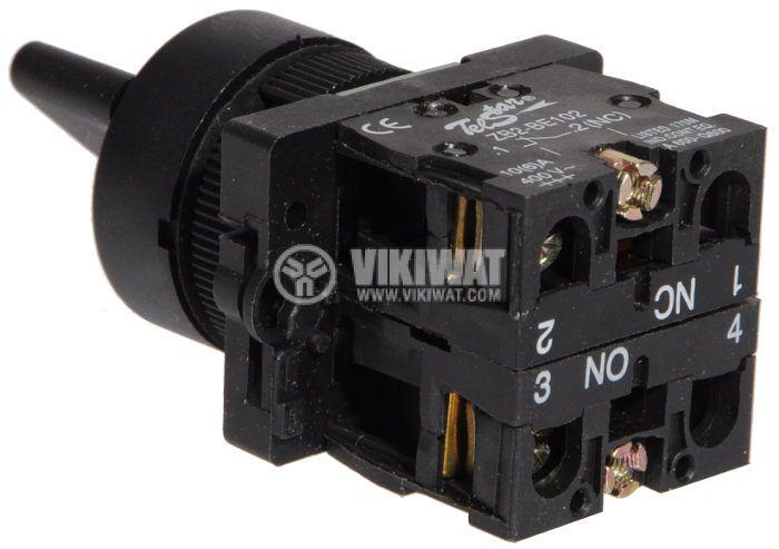 Ключ LAY5-ED25 400VAC/10A 2PDT - NО+NC черен - 3
