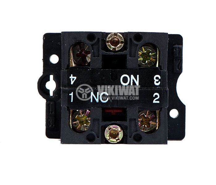 Button Switch LAY5, 400VAC, 10A, SPDT-NO+NC - 4