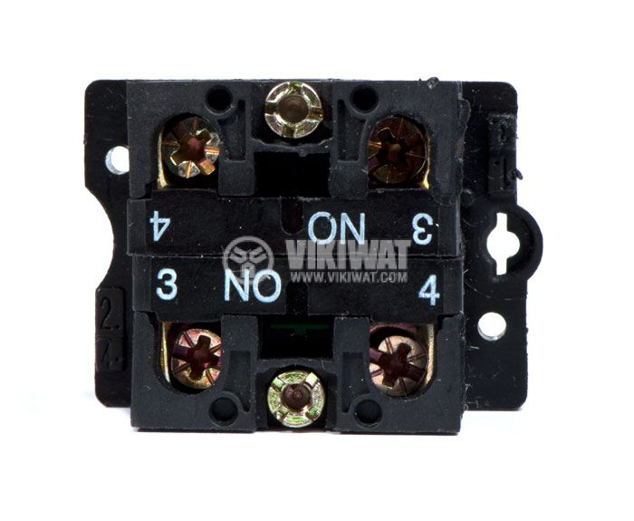 Button Switch LAY5, 10A, SPST-2NO - 4