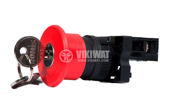 Button Switch XB2-ES142, 400VAC, 10A, SPST-NC - 2