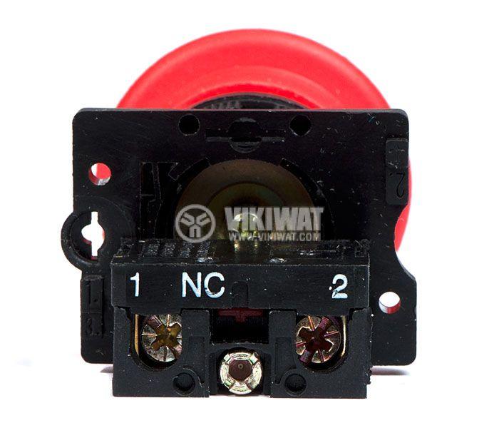 Button Switch XB2-ES142, 400VAC, 10A, SPST-NC - 4