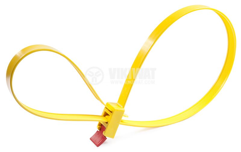 Cable tie SpeedyTie RTT750HR-PA66-RD/YE, 750mm, yellow/red - 3