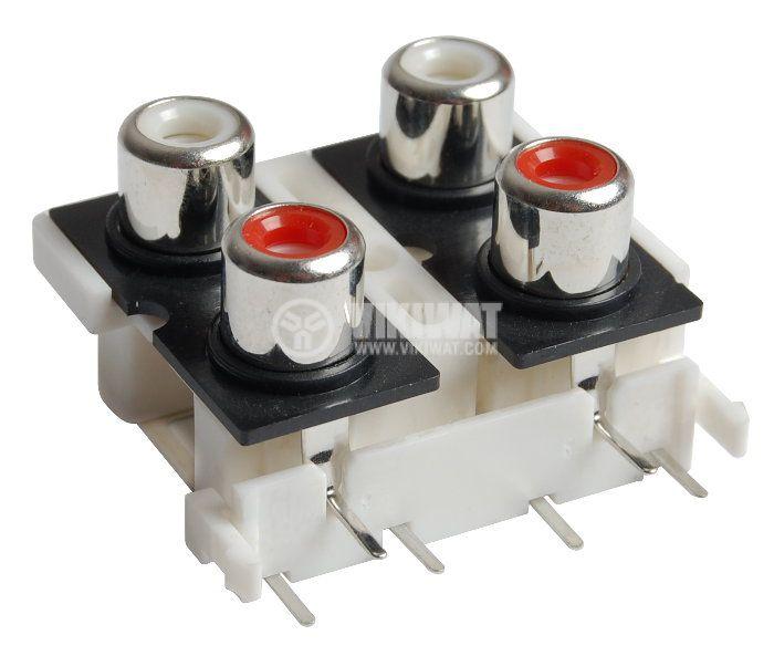Конектор, AV4-8.4-9, RCAx4, F - 1