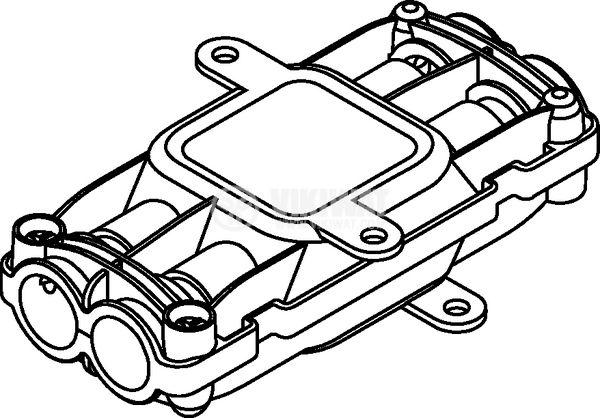 Кабелна муфа Relilight v34 P2, двойна, с лустер клема 3x4mm, 138x35x78mm, IP68 - 6