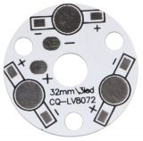 LED pad for 3 led diodes, d=32mm