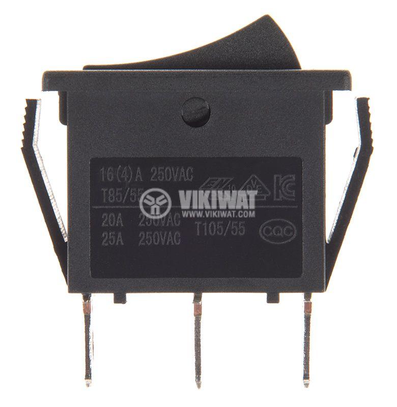 Клавишен превключвател rocker, 20A/250VAC, ON-OFF, SPDT - 2