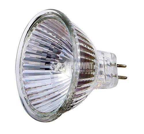 Халогенна лампа MR16, GU5.3, 12 V, 35 W, закрита, бяла
