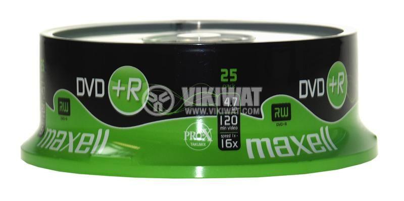 Диск  DVD+R, MAXELL, 4.7GB/120min, 16x - 2