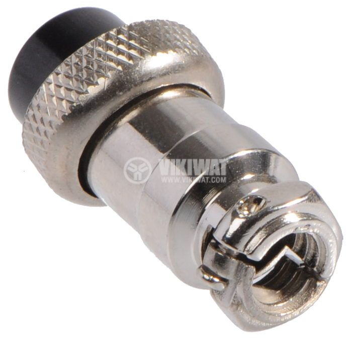 Connector, plug 2 pin, female, metal - 2