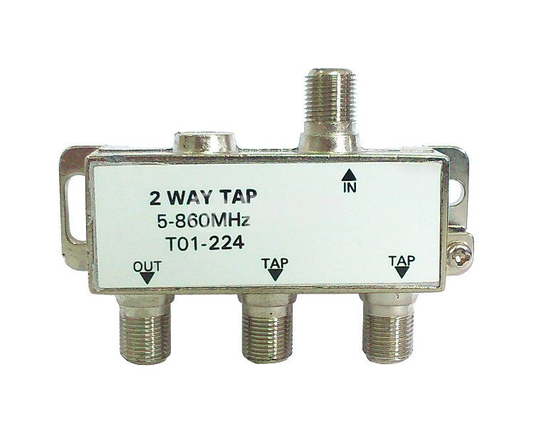 2 WAY TAP, T01-224, 5-860MHz