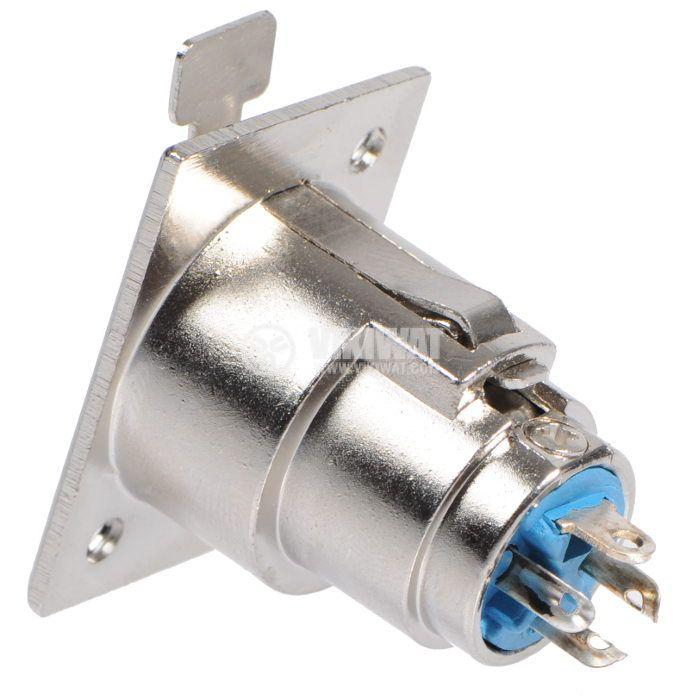 Професионален аудио конектор CANON F, F-198 за панелен монтаж - 2
